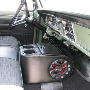 A King Console With Speakers in a 1969 Ford Pickup