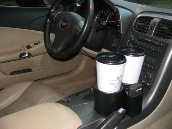 2005-13 Chevy C6 Corvette Plug-N-Chug Drink Holder in 2006 Corvette