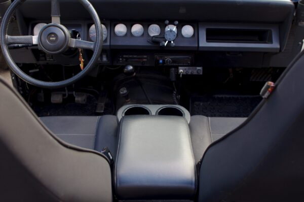 A Jeep Wrangler YJ HumpHugger Console