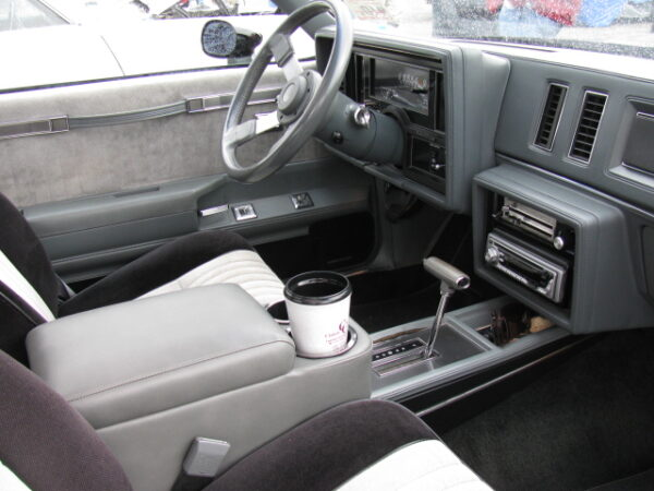 A 1984-1987 Grand National Buick Saddle Console in a Grand National